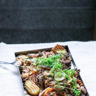 Cheesy Chook Potato Poutine. SAMANTHA PARISHIMG_2649